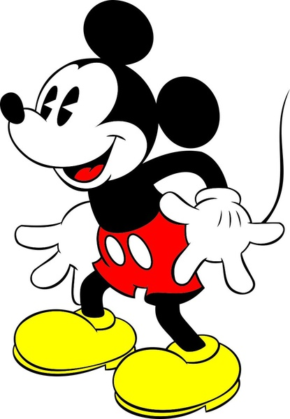 415x600 Mickey Free Vector In Coreldraw Cdr ( .cdr ) Vector Illustration