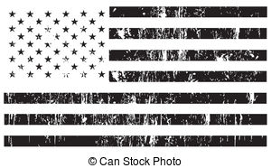 300x186 Distressed American Flag Vector Black And White