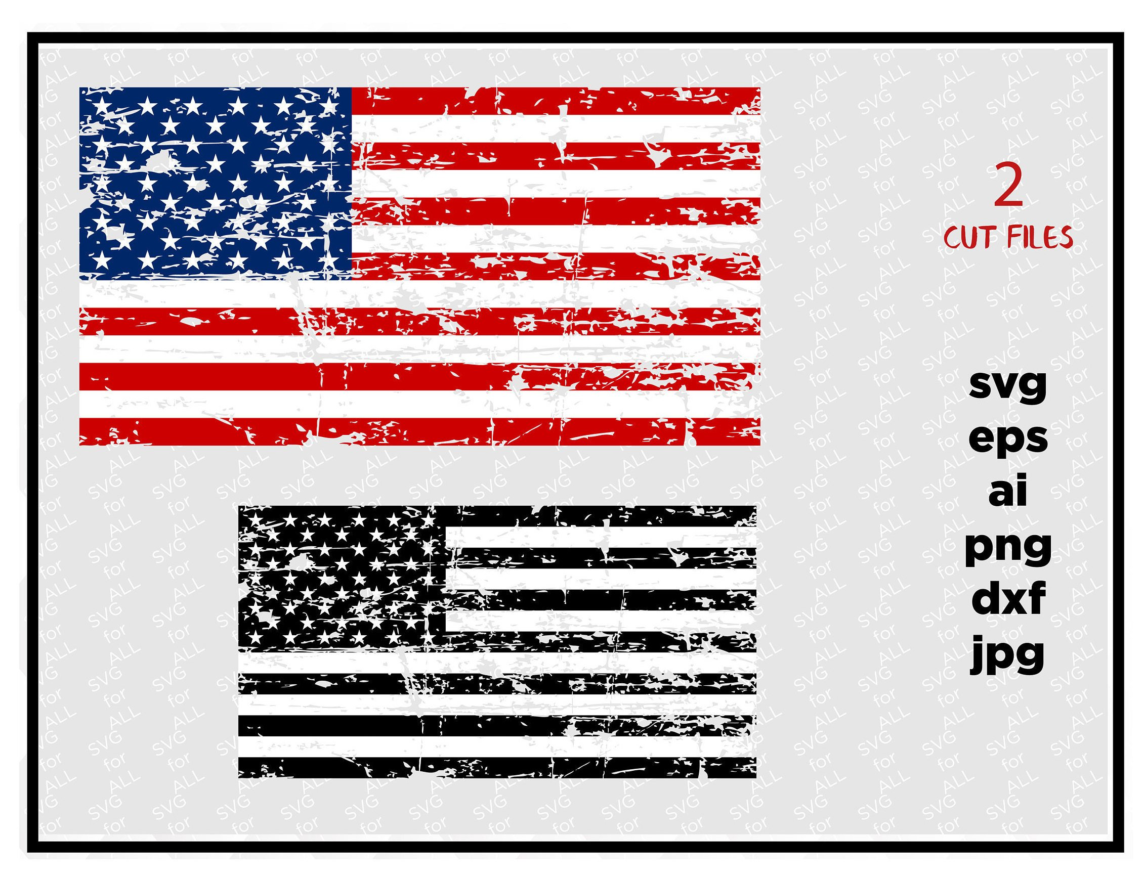 2261x1740 Distressed American Flags Svg Cut File Vinyl Cutter Vector Etsy