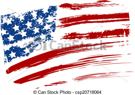 450x318 Distressed American Flag Clipart Collection