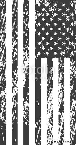 263x500 Grunge American Flag. Vintage Background For Web Design Stock
