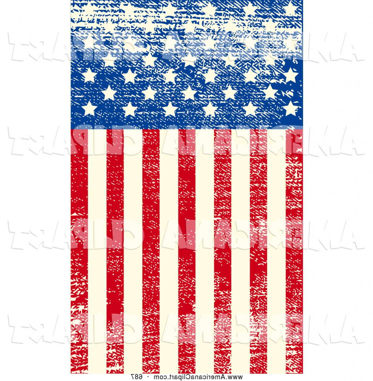 1228x1252 Americana Vector Clip Art Of A Grungy American Flag With