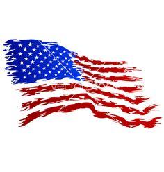 236x248 Usa Flag Vector Art