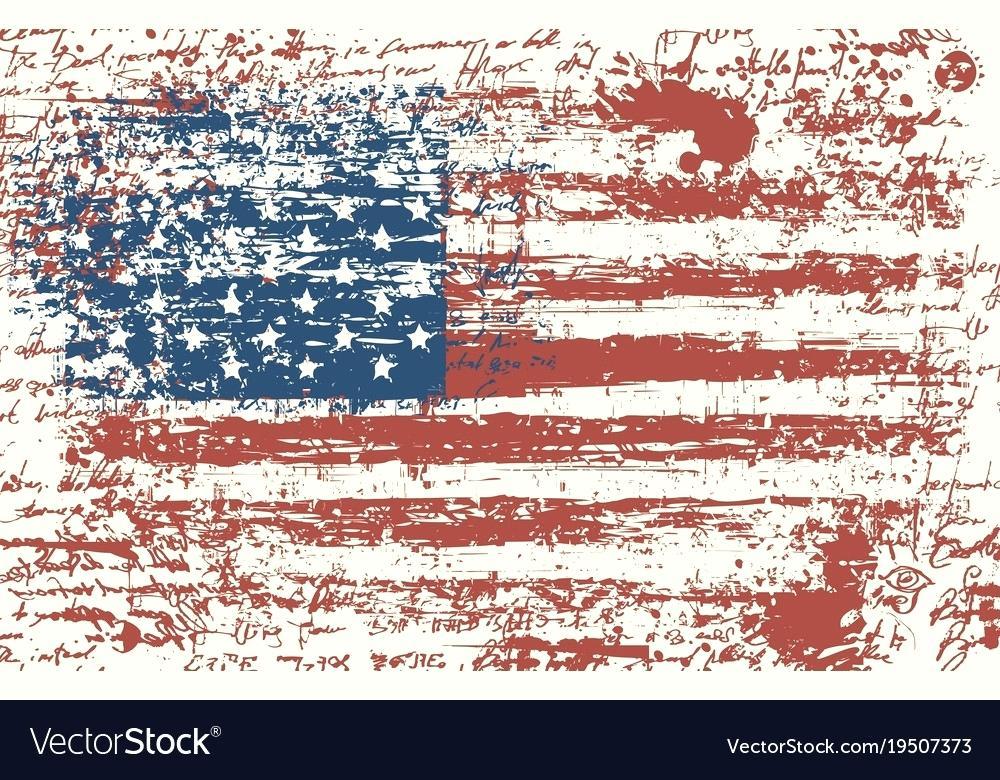 1000x780 Vintage American Flag Grunge Flag Vintage Flag Vector Image