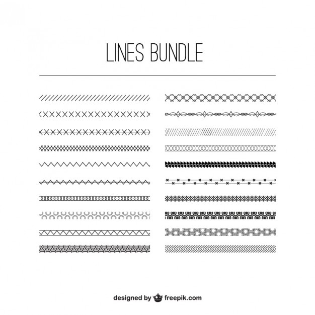 626x626 Lines Bundle Vector Free Download