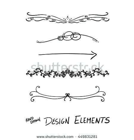 450x470 Fancy Divider Vector Design Element Beautiful Fancy Curls And