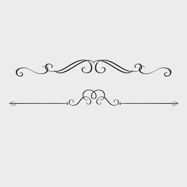 600x600 Free Vector Swirly Text Dividers