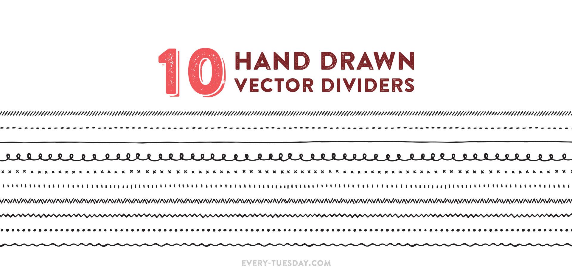 1920x928 Freebie Hand Drawn Vector Dividers