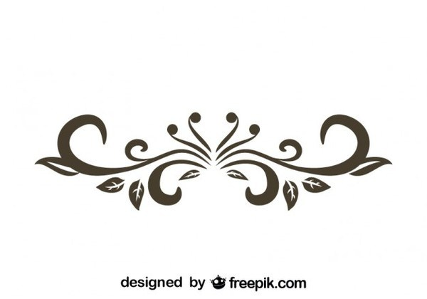 600x420 Retro Style Floral Decorative Text Divider Vector Graphics Free