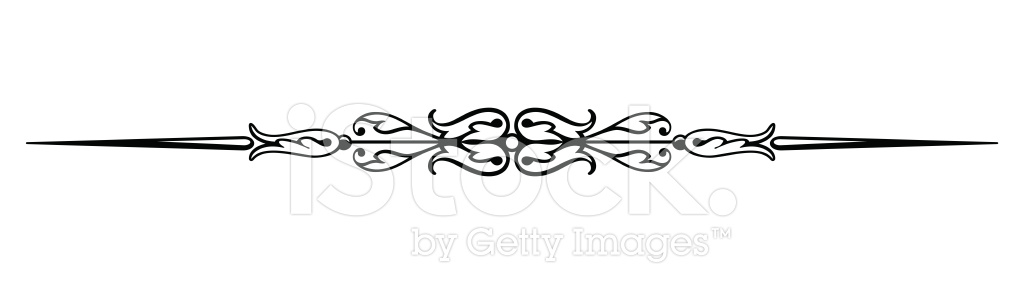 1024x284 Rule Line Divider Vector Stock Vector