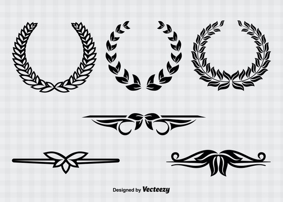 572x407 Wreaths And Text Divider Vector Free Vector Download In .ai