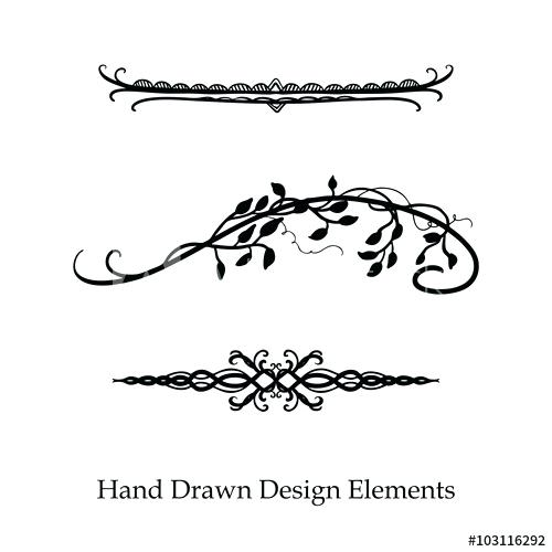 500x500 Fancy Divider Vector Design Element Beautiful Fancy Curls And