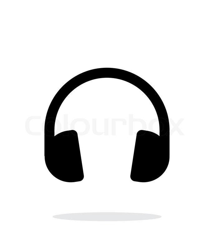 686x800 Dj Headphones Icon On White Background. Vector Illustration