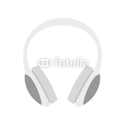 400x400 Dj Headphones Icon. Flat Illustration Of Dj Headphones Vector Icon