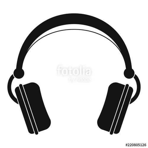500x500 Dj Headphones Icon. Simple Illustration Of Dj Headphones Vector