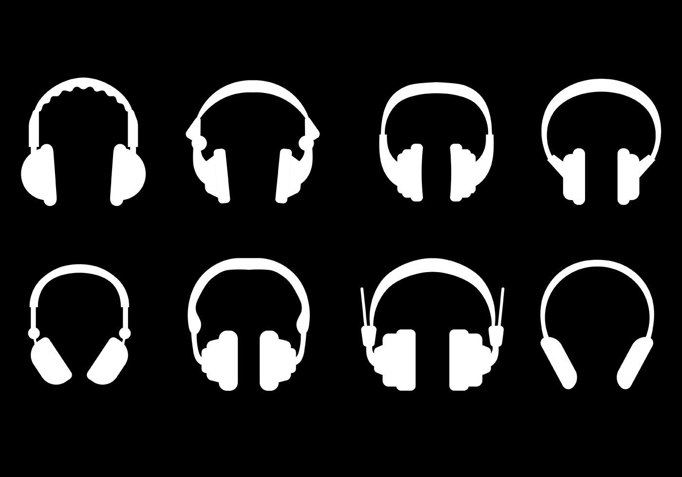 1400x980 Headphone Free Vector Art