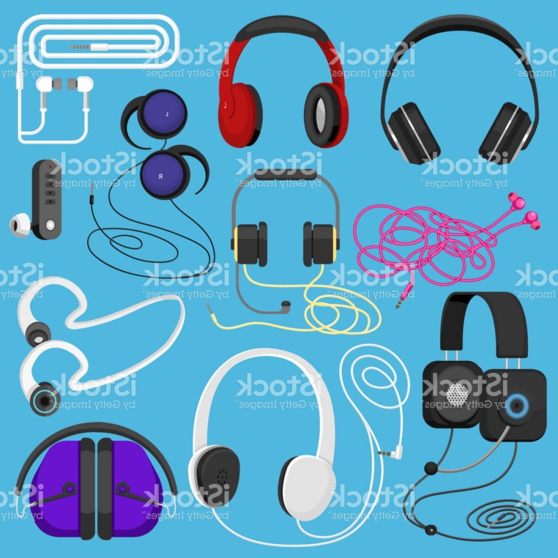 1228x1228 Headphones Vector Illustration Headset To Listen To Music For Dj