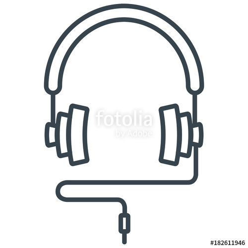 500x500 Headphones On White Background Vector Concept. Illustration Of A