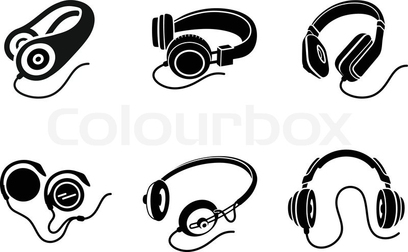 800x495 Icon Set In Black For Multimedia Devices With Different Types Of
