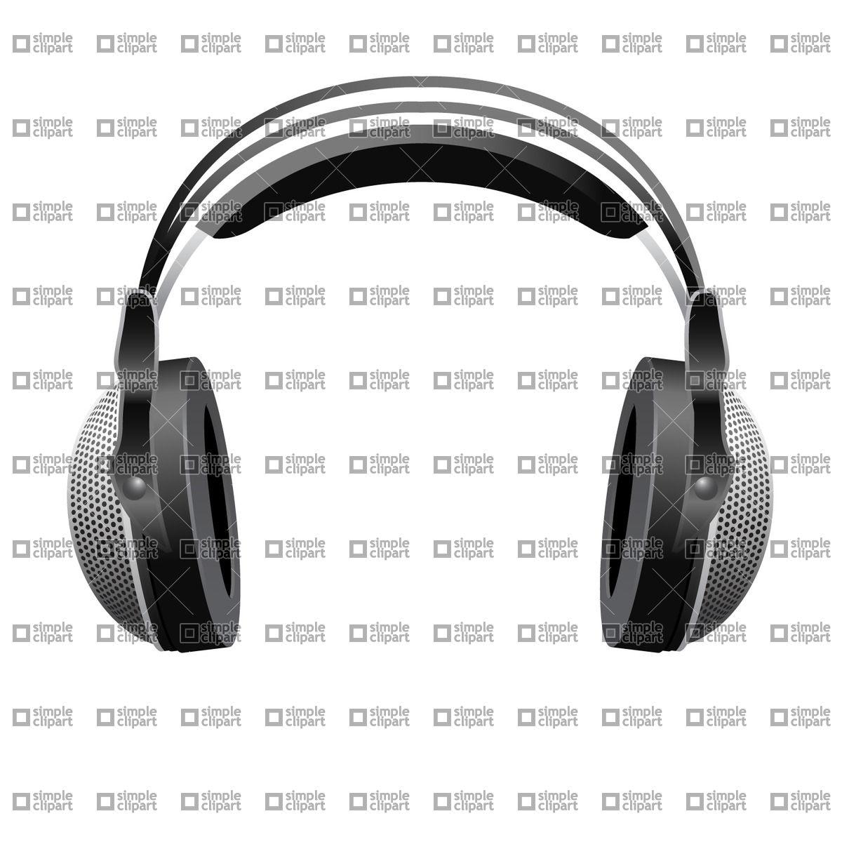 1200x1200 Large Dj Headphones Vector Image