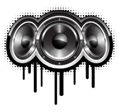 Dj Speakers Vector