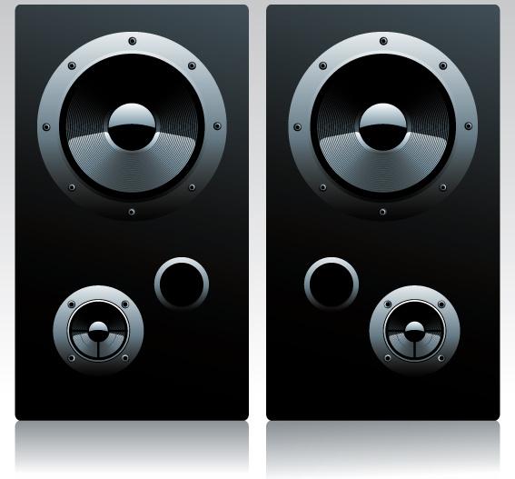567x527 Different Speaker System Design Vector Set Free Vector In
