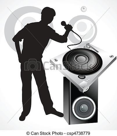 403x470 Drawn Musical Dj Speaker