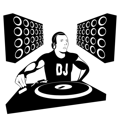 500x500 Free Vectors Silhouette Dj Boy With Speakers Free Vector