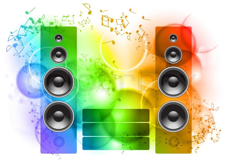 800x566 Music Abstract Background With Speakers Stock Vector Colourbox