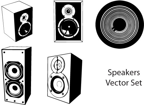 506x371 Speakers Vector Set Free Vector In Adobe Illustrator Ai ( .ai