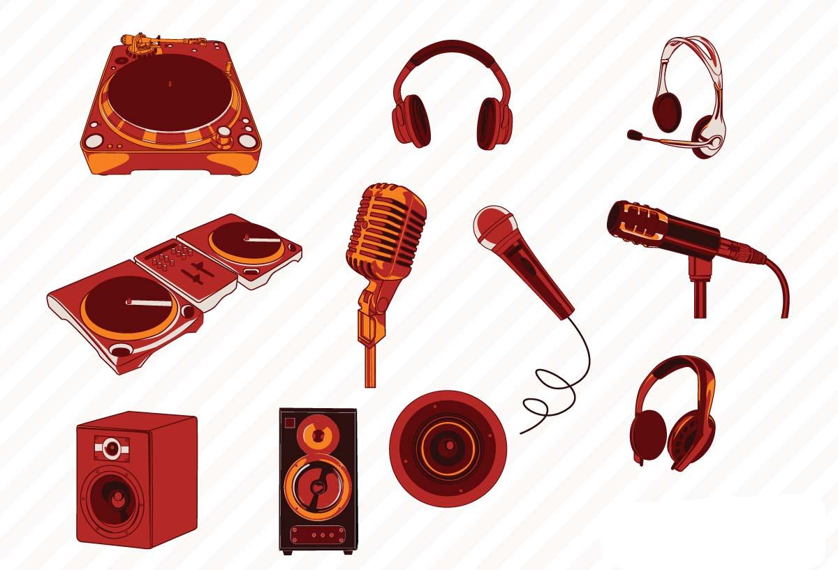 1200x817 Vector Music Dj Elements Set Free Download