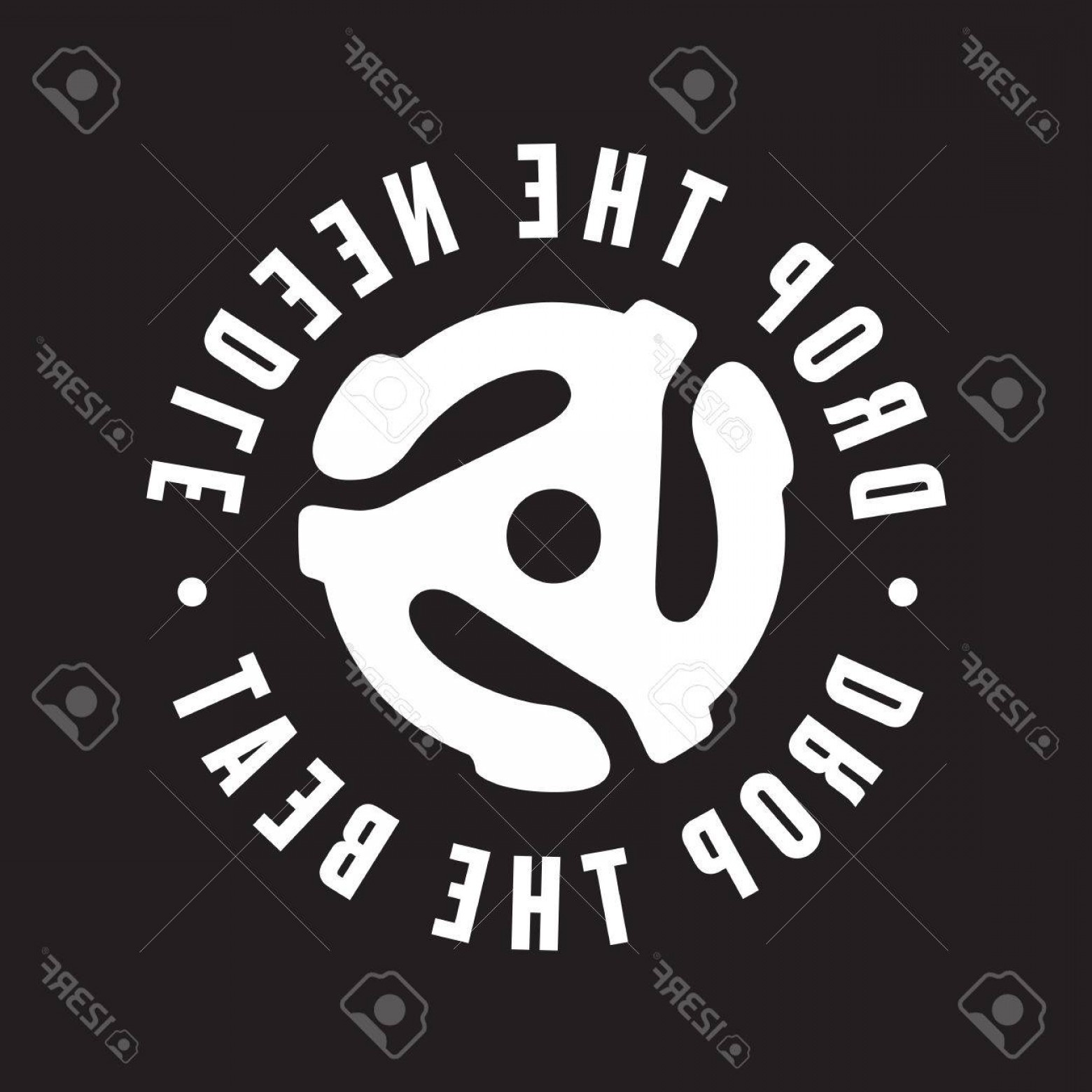 1560x1560 Photostock Vector Drop The Needle Drop The Beat Vinyl Record Logo