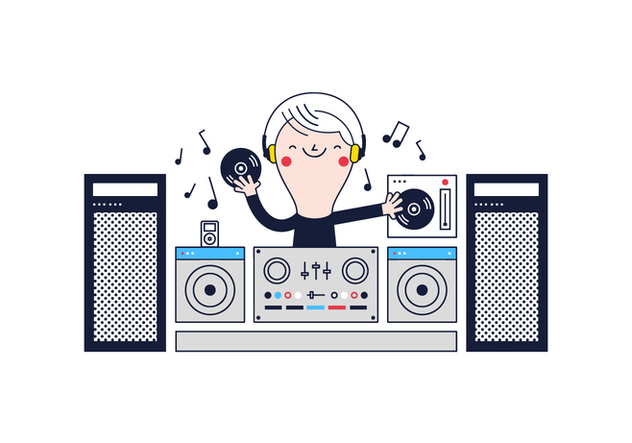 632x443 Free Dj Vector Free Vector Download 361575 Cannypic