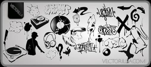 509x226 Free Dj Amp Graffiti Vector Artwork