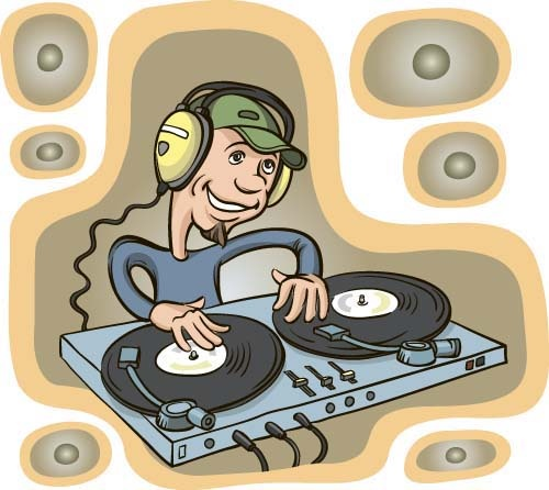 500x446 Funny Music Dj Vector Illustration Free Vector In Encapsulated