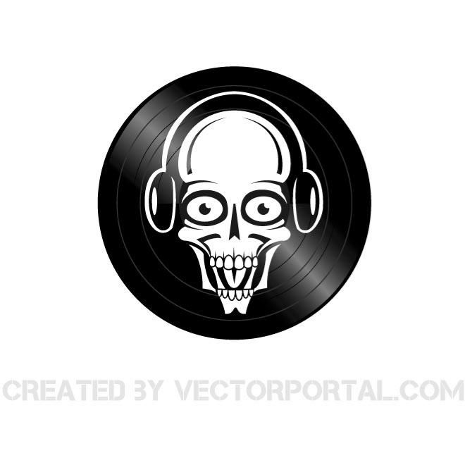 660x660 Skull Dj Vector Image. Skull Vectors Dj, Vector