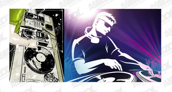 600x320 Vector Dj Playing Disc Material Download Free Vector,3d Model,icon