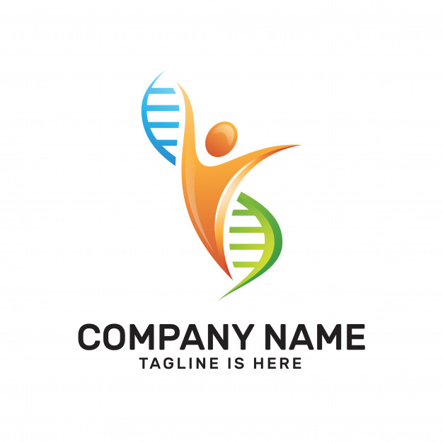 626x626 Human And Dna Helix Logo Vector Premium Download