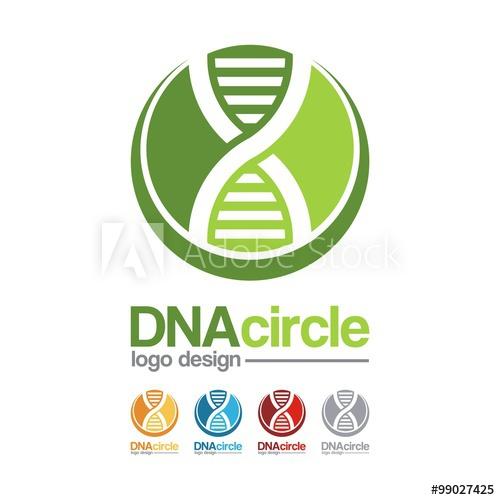 500x500 Dna Logo Crescent Dna Circle Design Logo Vector