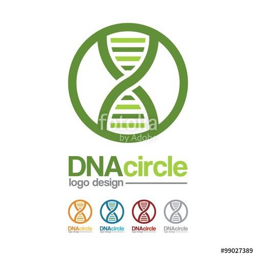 500x500 Dna Logo Dna Symbol Shaped Circle Line Design Logo Vector Stock
