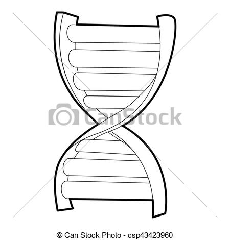 450x470 Dna Strand Icon, Isometric 3d Style. Dna Strand Icon. Isometric 3d