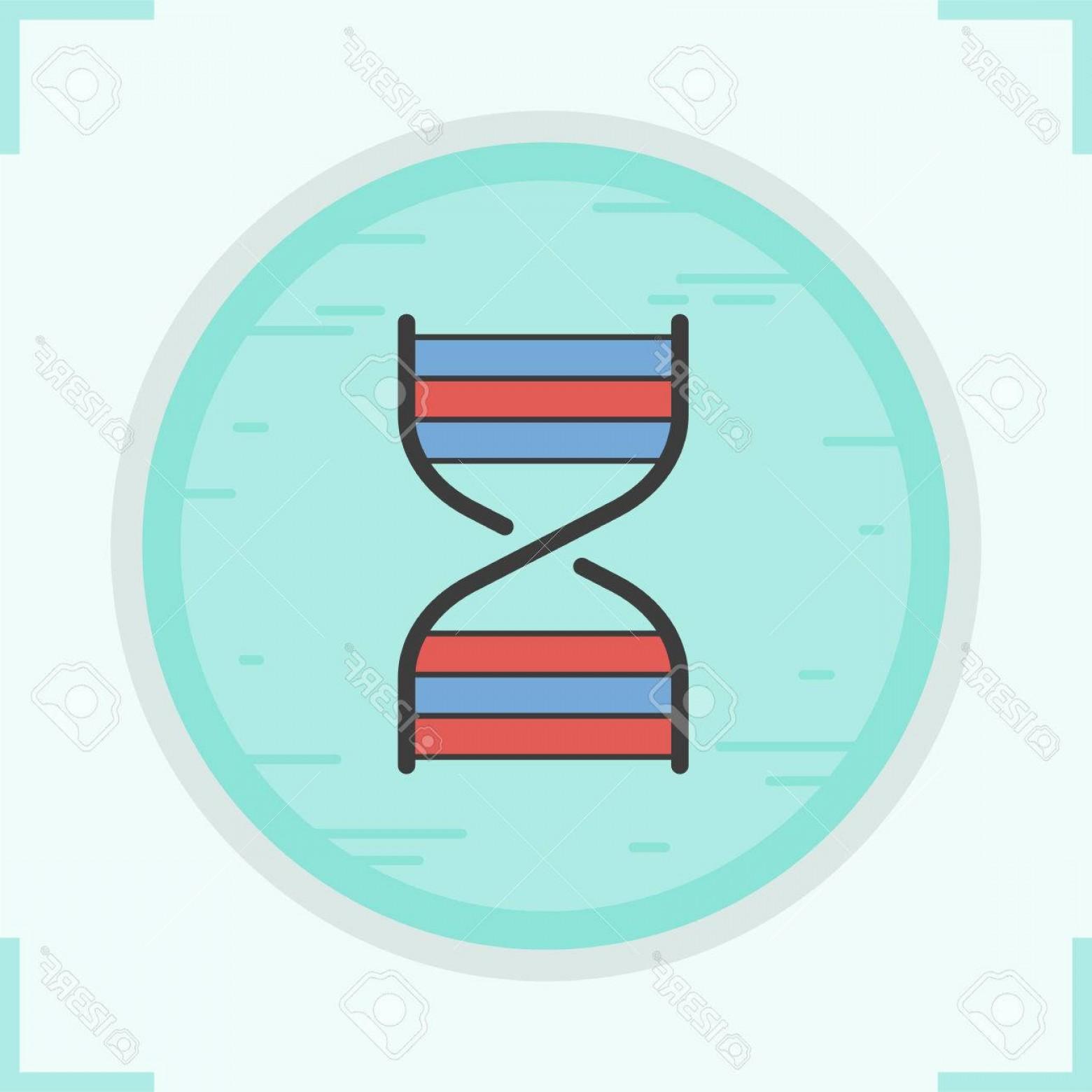1560x1560 Photostock Vector Dna Strand Color Icon Dna Helix Human Genetics