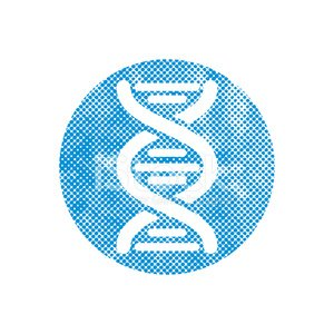 300x300 Dna Vector Icon With Pixel Print Halftone Dots Premium Clipart