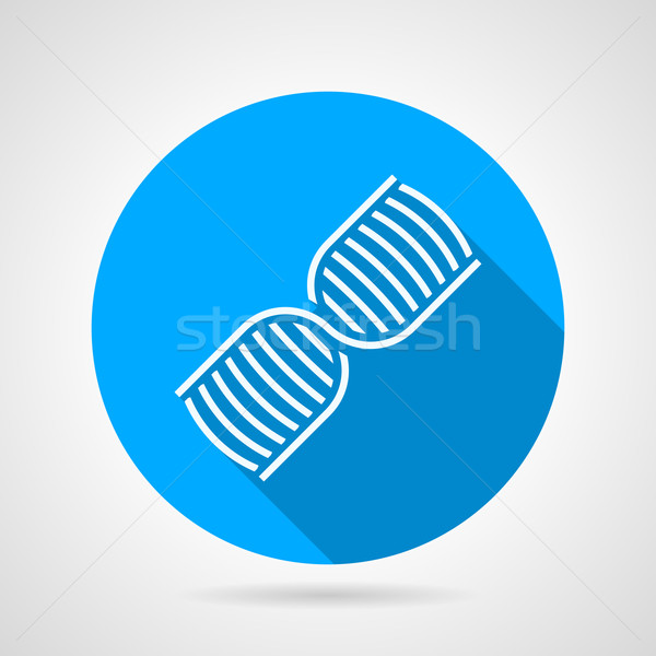 600x600 Round Blue Vector Icon For Dna Vector Illustration Oleksandr