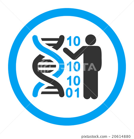 450x468 Dna Code Report Rounded Vector Icon