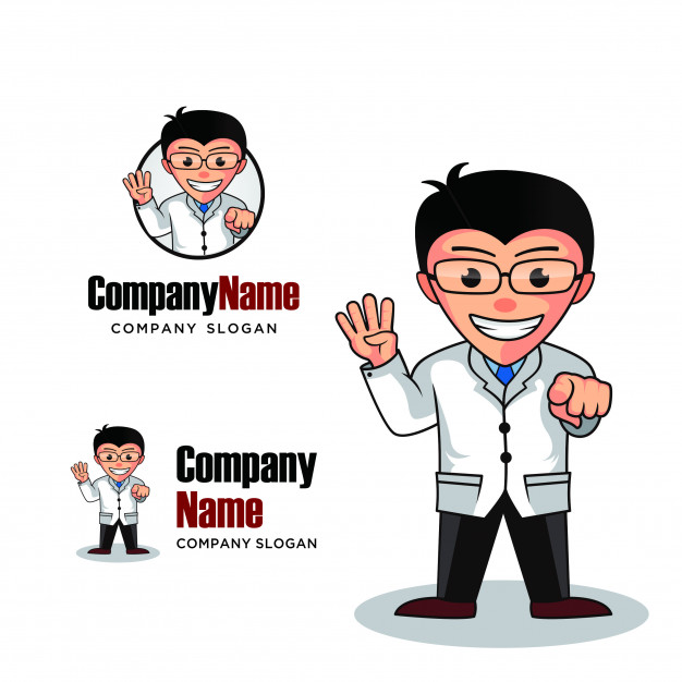 626x626 Doctor Logo Mascot Character Vector Premium Download