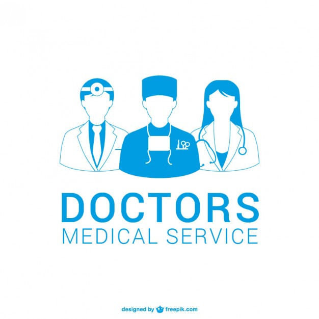 626x626 Doctors Silhouettes Vector Free Download