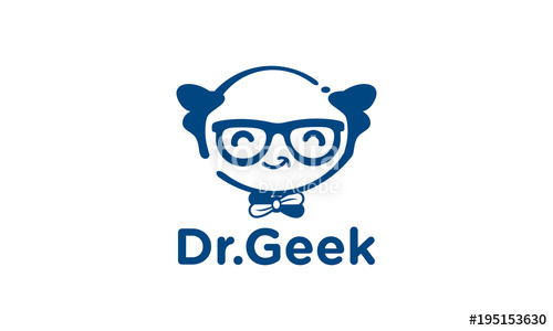 500x300 Geek Doctor Logo Design Template.geek Logo Vector Illustration