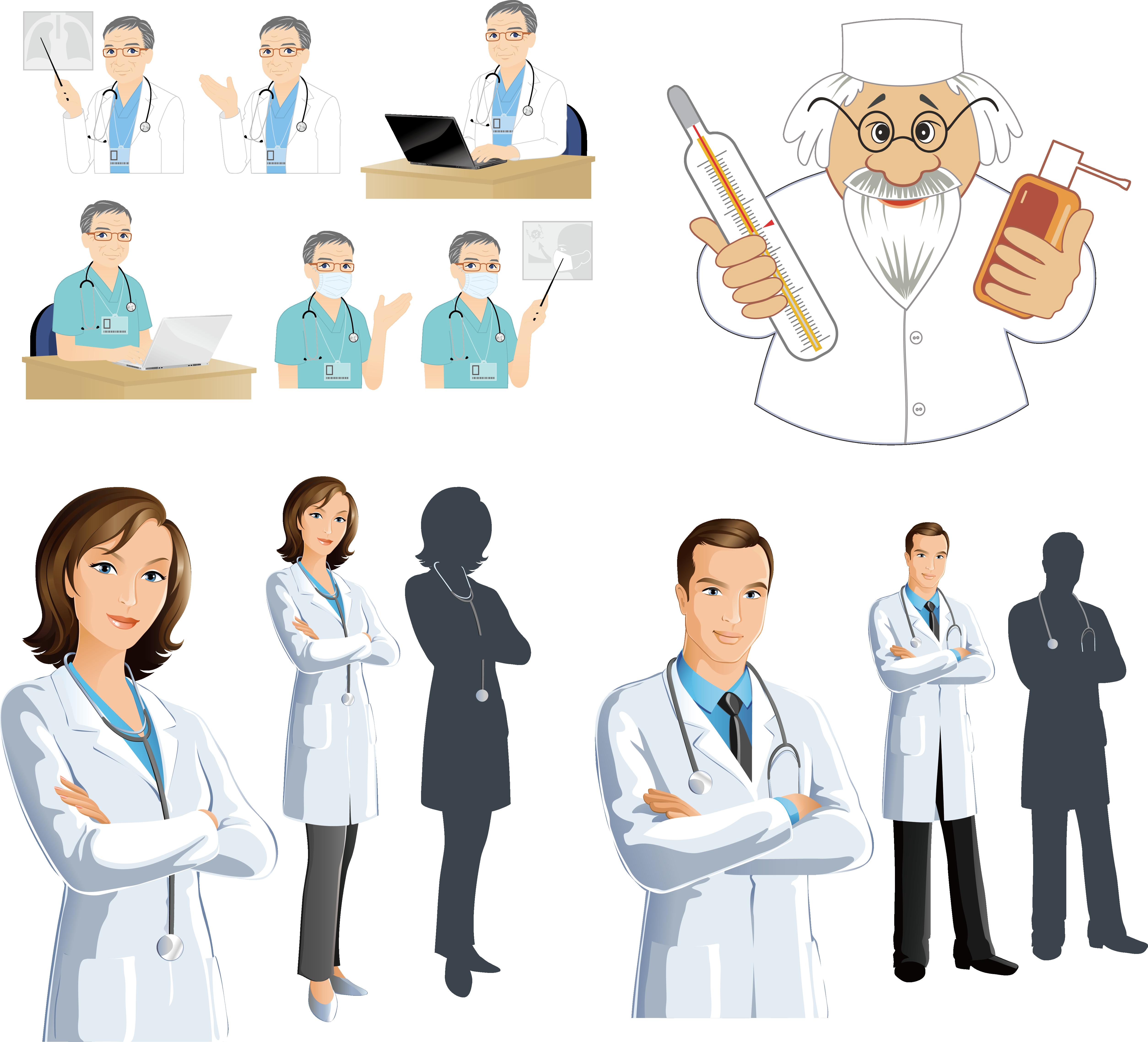5017x4555 Physician Clip Art