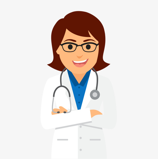650x651 Vector Female Doctor, Doctor Vector, Stethoscope, Happy Png And